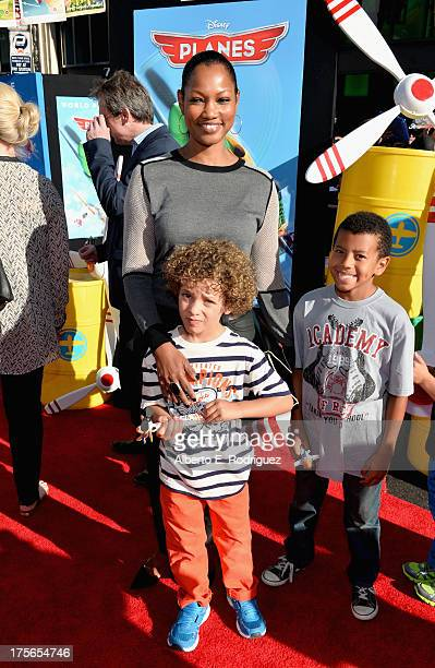 "Actress Garcelle Beauvais Jaid Thomas and attend Oliver Saunders the World Premiere of ""Disney's Planes"" at the El Capitan Theatre on Aug 5 in..."