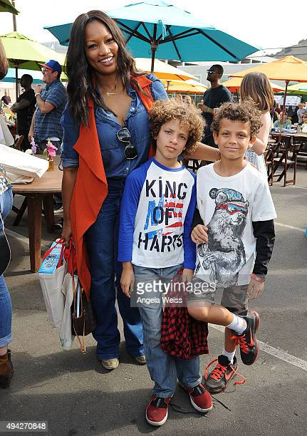 Actress Garcelle Beauvais with her sons Jaid Nilon and Jax Nilon attend the Elizabeth Glaser Pediatric AIDS Foundation's 26th Annual A Time For...