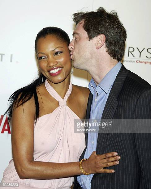 Actress Garcelle BeauvaisNilon and her husband Mark Nilon arrive at Vanity Fair Amped a preoscar benefit for Chrysalis at the Hollywood Roosevelt...