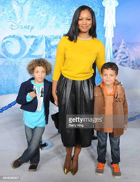 Actress Garcelle BeauvaisNilon and her sons Jaid Thomas Nilon and Jax Joseph Milon arrive at the Los Angeles Premiere 'Frozen' on November 19 2013 at...