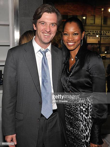 "Actress Garcelle Beauvais-Nilon and Mike Nilon attend the after party for the Los Angeles premiere of ""Spread"" at Katsuya on August 3, 2009 in..."