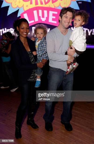 "Actress Garcelle Beauvais-Nilon , son Jaid Nilon, husband Mike Nilon and son Jax Nilon attend the first ever Yo Gabba Gabba! : ""There's A Party In My..."