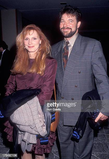 Actress Gates McFadden and actor Jonathan Frakes attend Education First's First Annual First Annual Vision Award Salute to Gene Roddenberry and The...