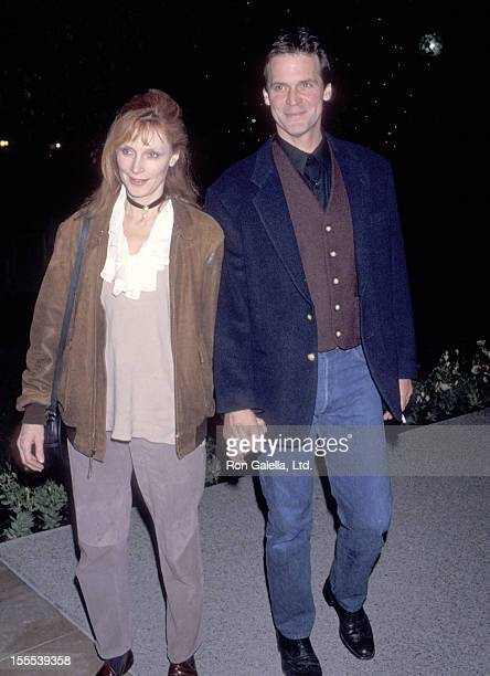 Actress Gates McFadden and husband John Talbot attend the What's Eating Gilbert Grape Hollywood Premiere on December 12 1993 at Paramount Theater in...