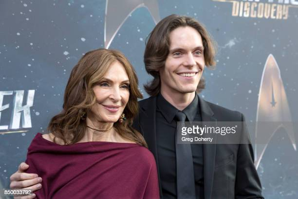 Actress Gates McFadden and James McFadden Talbot arrive for the Premiere Of CBS's Star Trek Discovery at The Cinerama Dome on September 19 2017 in...