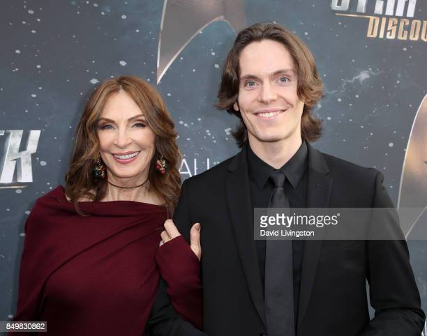 Actress Gates McFadden and James McFadden Talbot attend the premiere of CBS's Star Trek Discovery at The Cinerama Dome on September 19 2017 in Los...