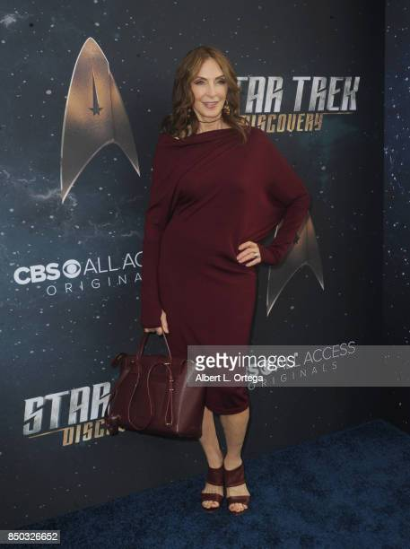 Actress Gates McFadden arrives for the Premiere Of CBS's Star Trek Discovery held at The Cinerama Dome on September 19 2017 in Los Angeles California