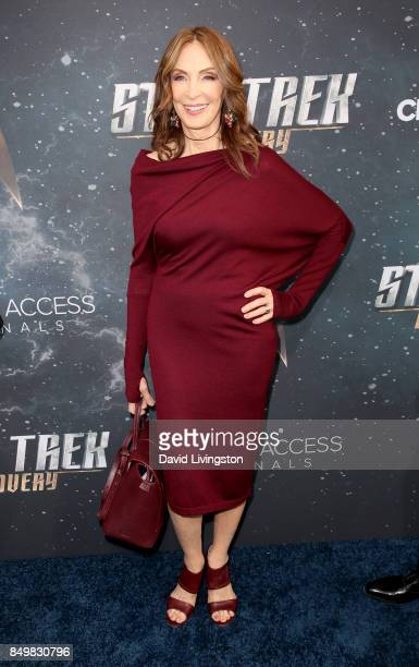 Actress Gates McFadden attends the premiere of CBS's Star Trek Discovery at The Cinerama Dome on September 19 2017 in Los Angeles California