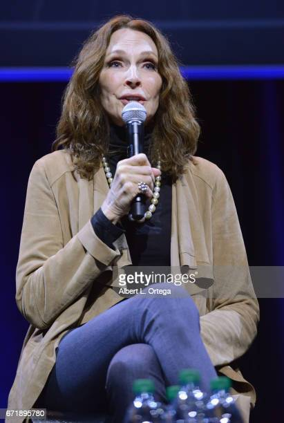 Actress Gates McFadden on the 'Star Trek The Next Generation' panel on day 2 of Silicon Valley Comic Con 2017 held at San Jose Convention Center on...