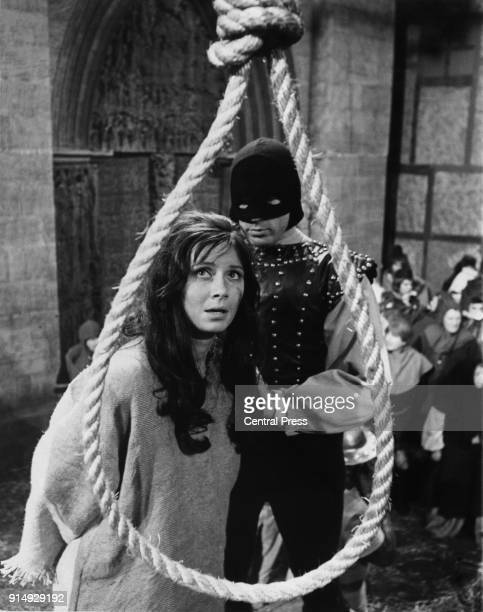 Actress Gay Hamilton as Esmeralda faces the noose in a scene from the sevenpart BBC serialisation 'The Hunchback of Notre Dame' adapted from the...