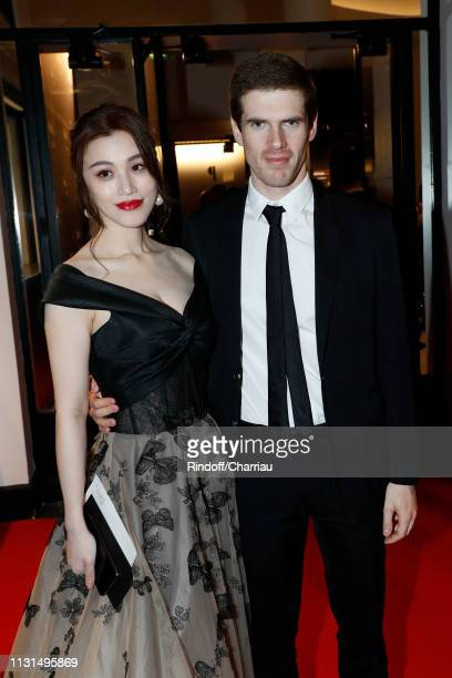Actress Ge Tian and Alexandre Desseigne attend the Cesar Film Awards 2019 at Salle Pleyel on February 22 2019 in Paris France