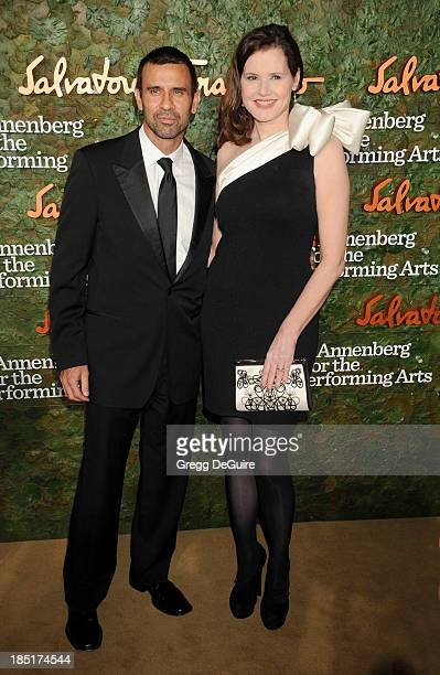 Actress Geena Davis and husband Reza Jarrahy arrive at the Wallis Annenberg Center For The Performing Arts Inaugural Gala at Wallis Annenberg Center...