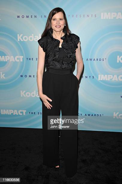 Actress Geena Davis arrives at the 2011 Women In Film Crystal Lucy Awards with presenting sponsor PANDORA jewelry at the Beverly Hilton Hotel on June...