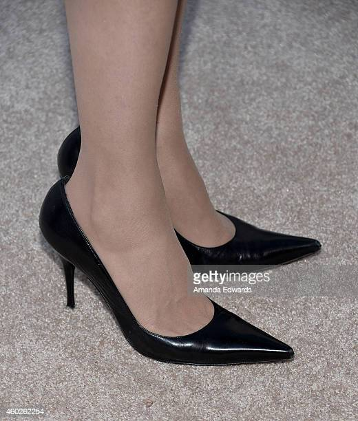 Actress Geena Davis arrives at The Hollywood Reporter's Women In Entertainment Breakfast at Milk Studios on December 10 2014 in Los Angeles California