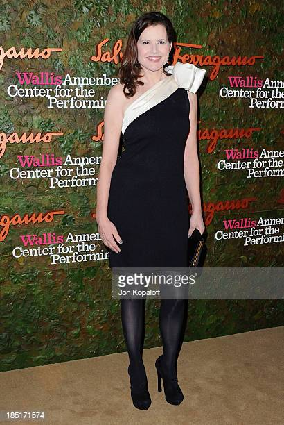 Actress Geena Davis arrives at the Wallis Annenberg Center For Performing Arts Inaugural Gala at Wallis Annenberg Center for the Performing Arts on...