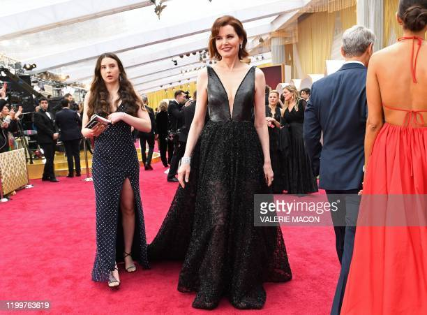 Actress Geena Davis arrives for the 92nd Oscars at the Dolby Theatre in Hollywood California on February 9 2020