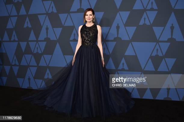 US actress Geena Davis arrives to attend the 11th Annual Governors Awards gala hosted by the Academy of Motion Picture Arts and Sciences at the Dolby...