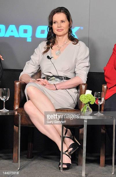 Actress Geena Davis attends the 2012 World Childhood Foundation Symposium at NASDAQ MarketSite on May 9 2012 in New York City