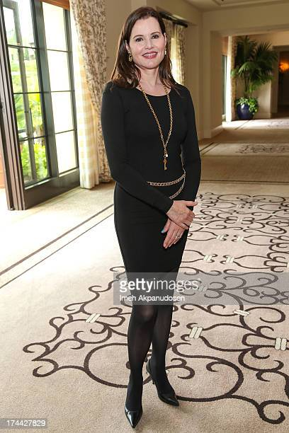 Actress Geena Davis attends the 2013 NEW Executive Leaders Forum at Terranea Resort on July 25 2013 in Rancho Palos Verdes California