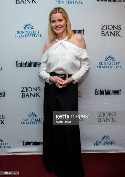 Actress Geena Davis attends the 2017 Sun Valley Film Festival 'Vision Award Dinner' during the 2017 Sun Valley Film Festival on March 18 2017 in Sun...