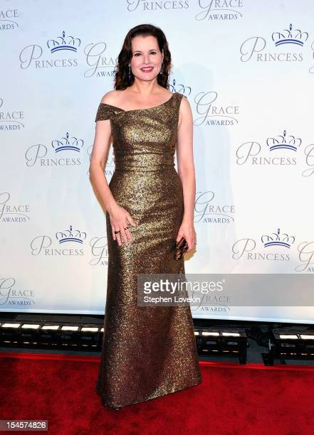 Actress Geena Davis attends the 30th anniversary Princess Grace awards gala at Cipriani 42nd Street on October 22 2012 in New York City
