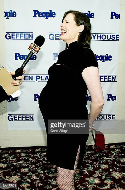 Actress Geena Davis attends the 3rd Annual Backstage at the Geffen Gala Fundraiser at the Geffen Playhouse April 19 2004 in Westwood California