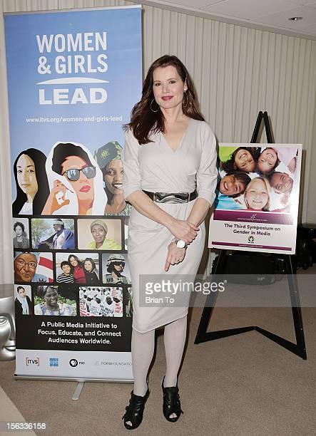 Actress Geena Davis attends The Geena Davis Institute on Gender In Media presents 3rd Symposium on Gender in Media at SLS Hotel on November 13 2012...