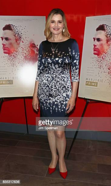 Actress Geena Davis attends the Marjorie Prime New York premiere at Quad Cinema on August 18 2017 in New York City