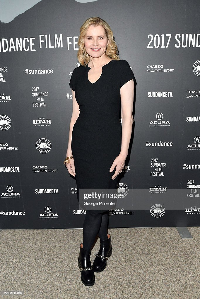 Actress Geena Davis attends the 'Marjorie Prime' Premiere at Eccles Center Theatre on January 23, 2017 in Park City, Utah.
