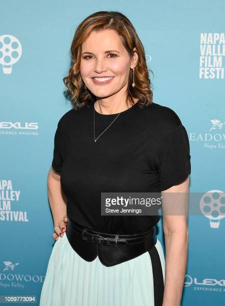 Actress Geena Davis attends the Napa Valley Film Festival to receive the Davis Estates Visionary Tribute on November 7 2018 in Napa California