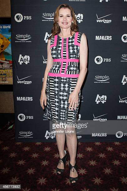Actress Geena Davis attends the screening of AOL Makers 'Makers Women In Hollywood' at the AMC Theaters Century City on October 6 2014 in Century...