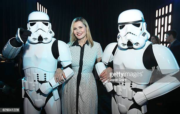 Actress Geena Davis attends The World Premiere of Lucasfilm's highly anticipated firstever standalone Star Wars adventure Rogue One A Star Wars Story...