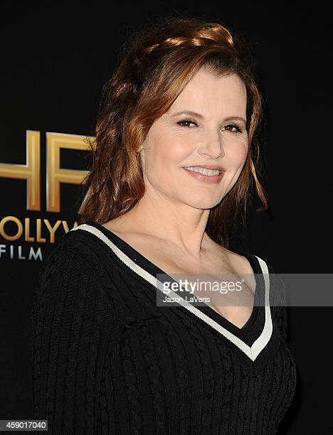 Actress Geena Davis poses in the press room at the 18th annual Hollywood Film Awards at Hollywood Palladium on November 14 2014 in Hollywood...