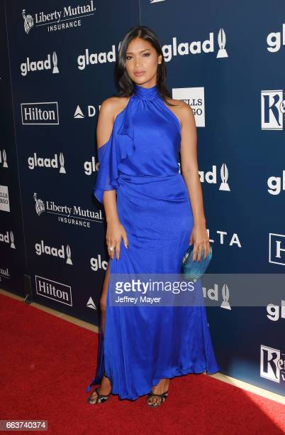 Actress Geena Rocero attends the 28th Annual GLAAD Media Awards in LA at The Beverly Hilton Hotel on April 1 2017 in Beverly Hills California