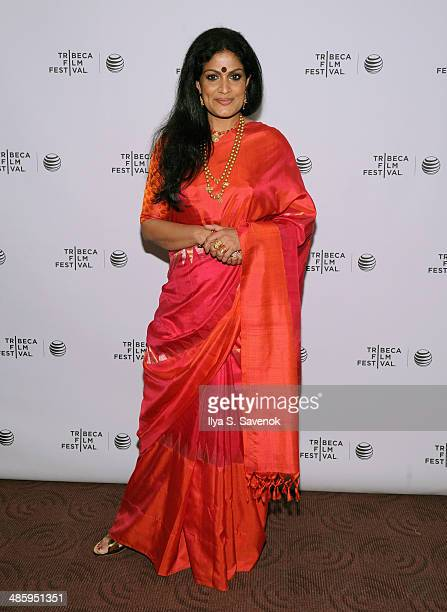 Actress Geeta Chandran attends the 'Vara Blessing' Premiere during the 2014 Tribeca Film Festival at Chelsea Bow Tie Cinemas on April 21 2014 in New...