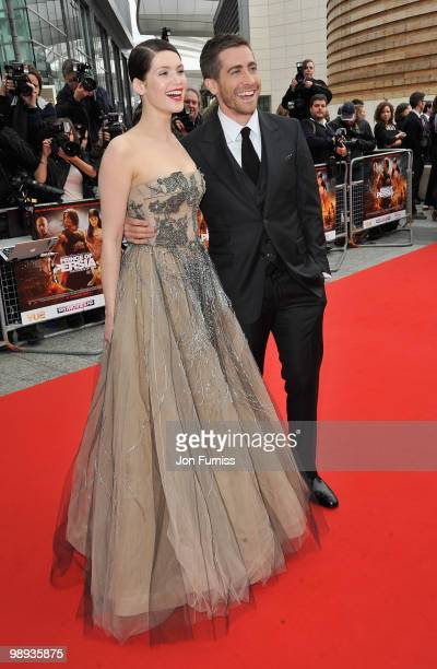 Actress Gemma Arterton and actor Jake Gyllenhaal attend the 'Prince Of Persia: The Sands Of Time' world premiere at the Vue Westfield on May 9, 2010...