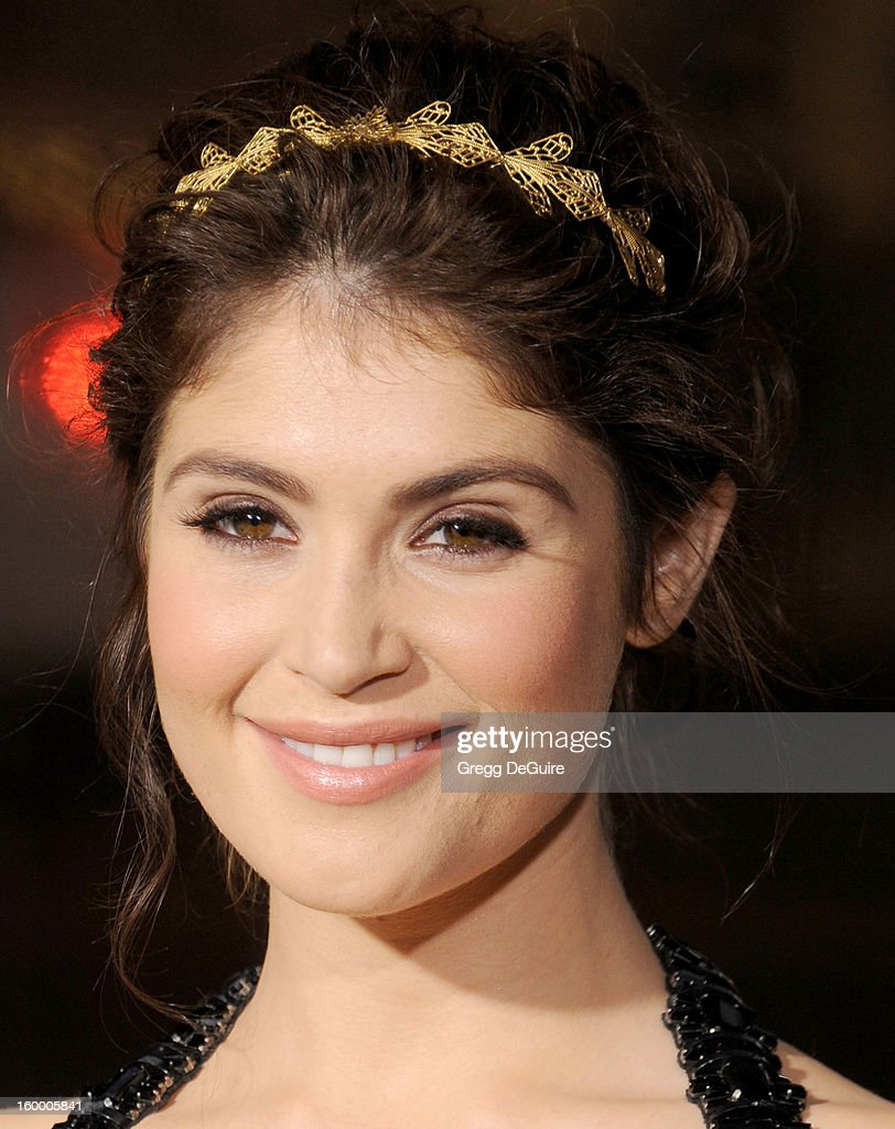 Actress Gemma Arterton arrives at the 'Hansel & Gretel: Witch Hunters' Los Angeles premiere at TCL Chinese Theatre on January 24, 2013 in Hollywood, California.