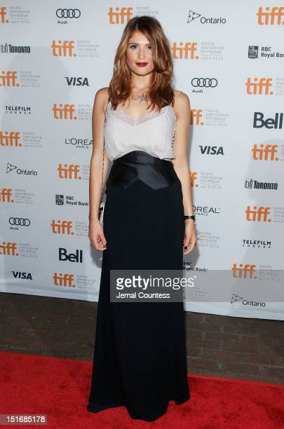 Actress Gemma Arterton attends the Byzantium premiere during the 2012 Toronto International Film Festival at Ryerson Theatre on September 9 2012 in...