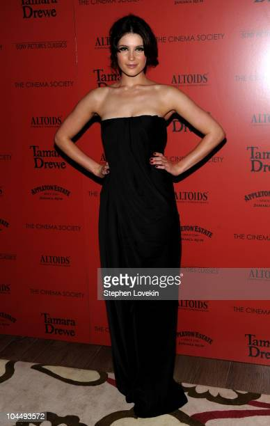 """Actress Gemma Arterton attends the Cinema Society and Altoids's screening of """"Tamara Drewe"""" at the Crosby Street Hotel on September 27, 2010 in New..."""
