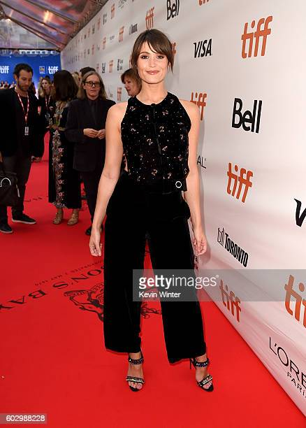 Actress Gemma Arterton attends the 'Their Finest' premiere during the 2016 Toronto International Film Festival at Roy Thomson Hall on September 11...