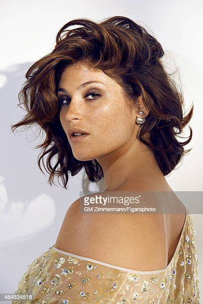 110258005 Actress Gemma Arterton is photographed for Madame Figaro on June 19 2014 in Paris France Top earrings Makeup by Sisley PUBLISHED IMAGE...