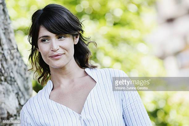 Actress Gemma Arterton poses during the 69th Locarno Film Festival on August 3 2016 in Locarno Switzerland