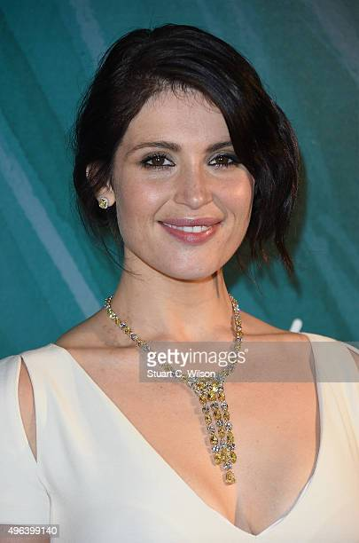 Actress Gemma Arterton reveals the 2015 Tiffany Co Christmas windows at the Old Bond Street store marking the opening of the Tiffany Christmas shop...