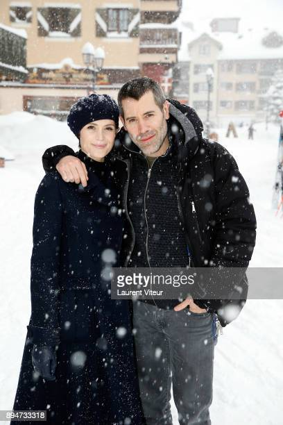 Actress Gemma Aterton and Actor and Director Jalil Lespert attend 9th Les Arcs European Film Festival on December 18 2017 in Les Arcs France