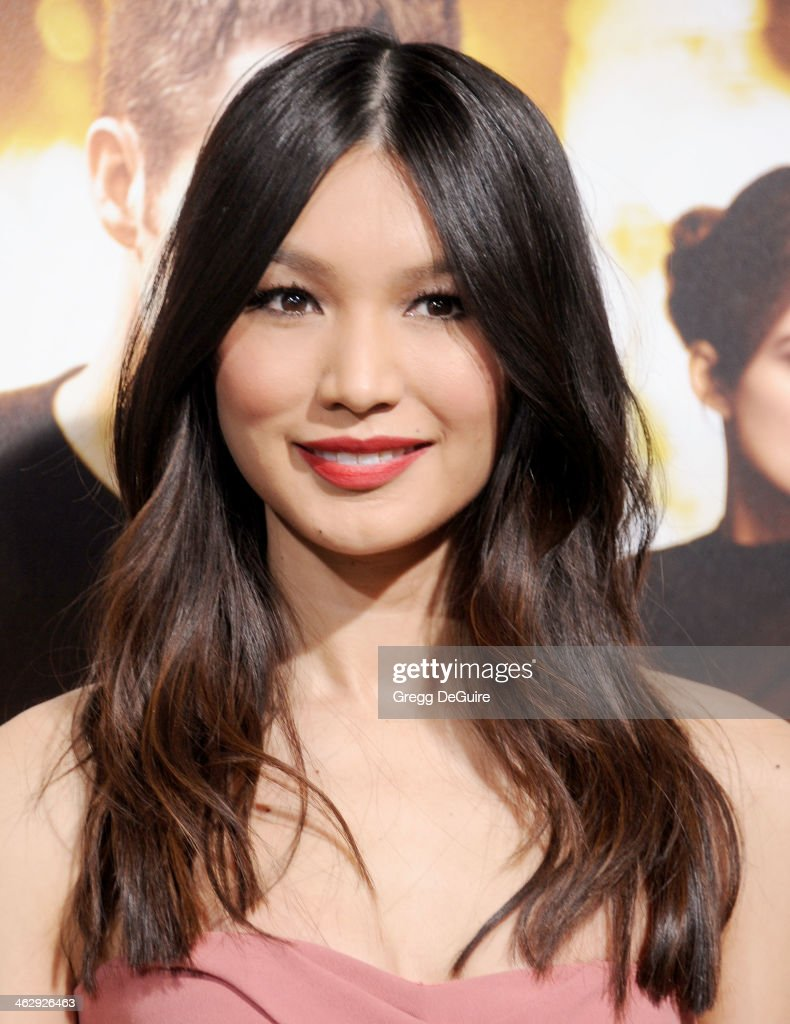 Actress Gemma Chan arrives at the Los Angeles premiere of 'Jack Ryan: Shadow Recruit' at TCL Chinese Theatre on January 15, 2014 in Hollywood, California.