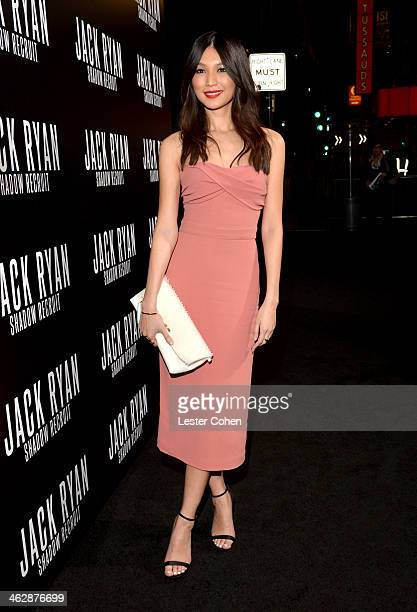 Actress Gemma Chan arrives at the premiere of Paramount Pictures' 'Jack Ryan Shadow Recruit' at TCL Chinese Theatre on January 15 2014 in Hollywood...