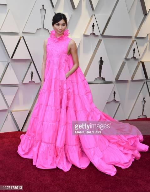 Actress Gemma Chan arrives for the 91st Annual Academy Awards at the Dolby Theatre in Hollywood California on February 24 2019