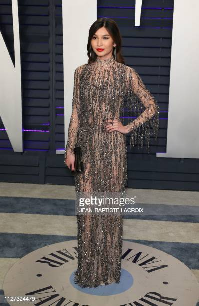 Actress Gemma Chan attends the 2019 Vanity Fair Oscar Party following the 91st Academy Awards at The Wallis Annenberg Center for the Performing Arts...