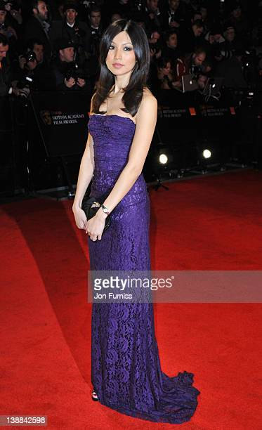 Actress Gemma Chan attends the Orange British Academy Film Awards 2012 at the Royal Opera House on February 12 2012 in London England