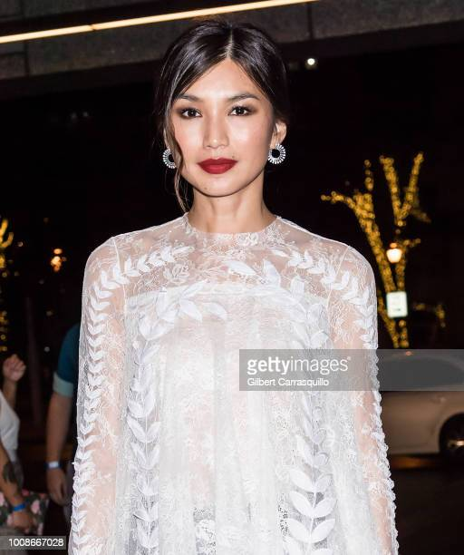 Actress Gemma Chan is seen arriving to the 'Crazy Rich Asians' after party at Assembly Rooftop Lounge at The Logan Philadelphia Curio Collection by...